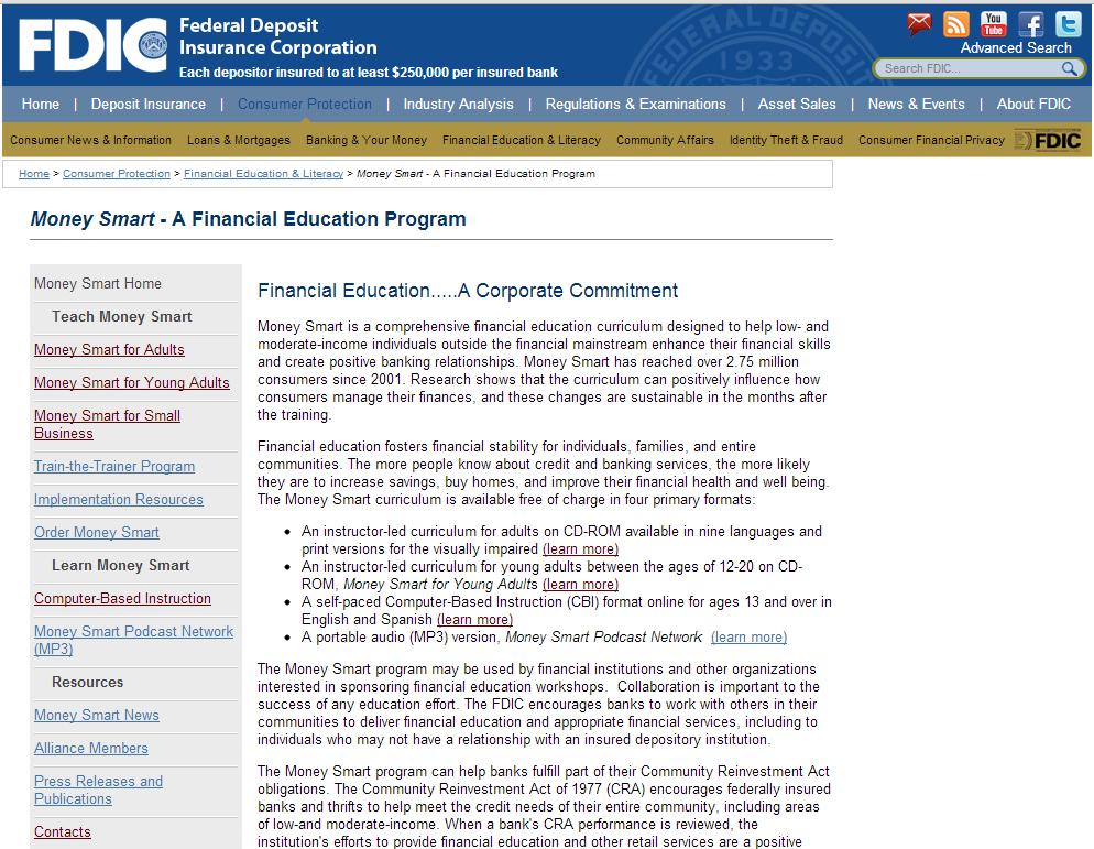FDIC Moneysmart