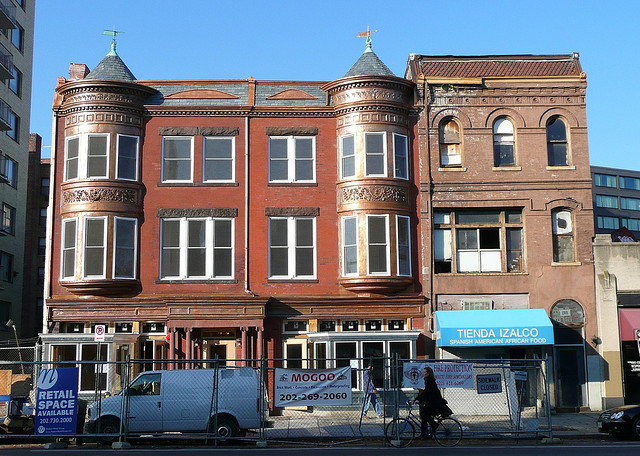 My favorite historic reno, we lived near this building when I first moved to DC and I thought it was a diamond in the rough.  Now it is a diamond, with an Aveda and a Bike Shop on the main level.