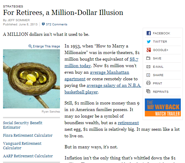 NY times enough to retire