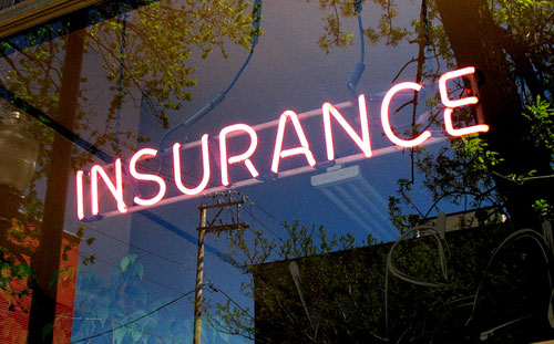 neon insurance sign
