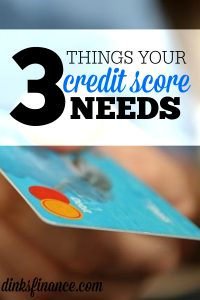 Like it or not, your credit score matters. If you're trying to build or rebuild your credit here are three things your credit score needs.