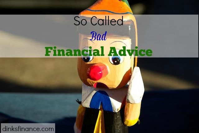 Bad Financial Advice, financial tips, bad financial tips, financial advisor, investments, personal finance