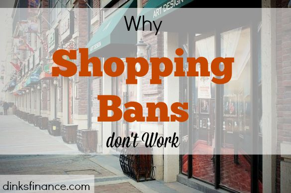 shopping ban, no to shopping, impulse shopping