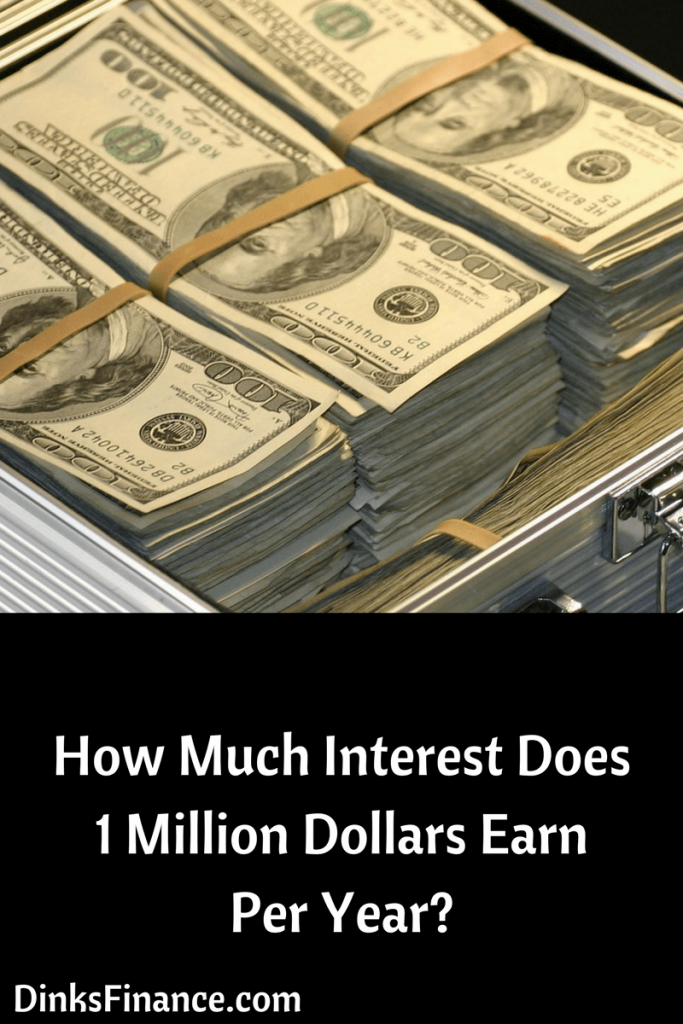 How Much Interest Does 1 Million Dollars Earn Per Year?