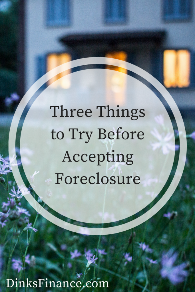Accepting foreclosure