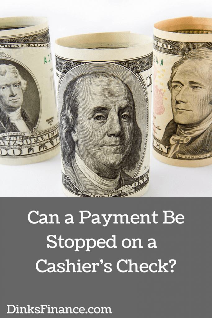 Can a Payment Be Stopped on a Cashier's Check-