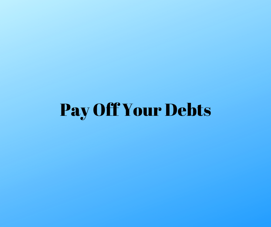 pay off your debts
