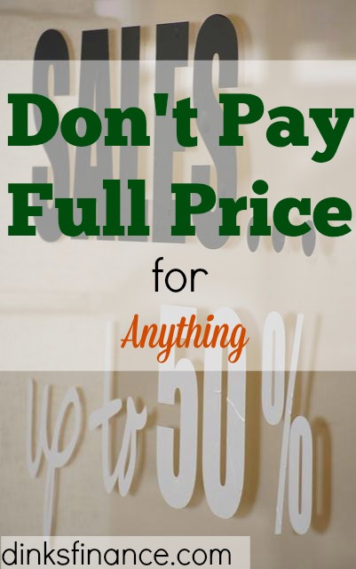 discounts, deals, promos, no to full price