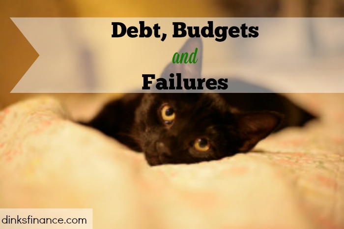 Debt, Budgets and Failures, get out of debt, dealing with debt, budgeting