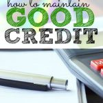 If you want to maintain good credit there are a few things you should be doing. This post from USA.gov will tell you exactly what to look out for.