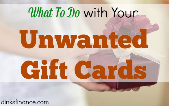 regifting, gift card, unwanted gift card