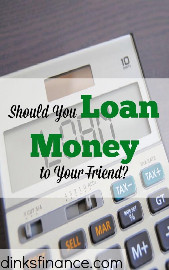loaning money, lending money to friends, loaning cash
