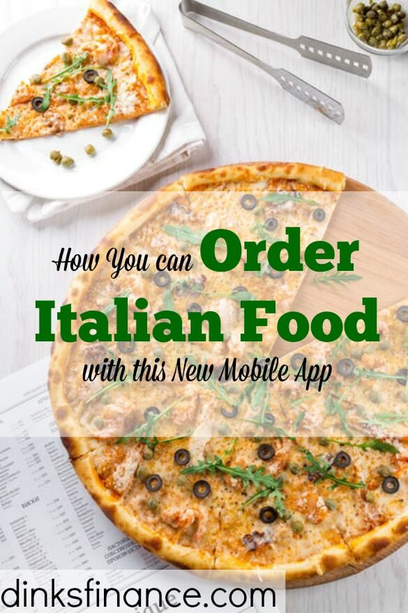 food delivery mobile app, ordering italian food, ordering food