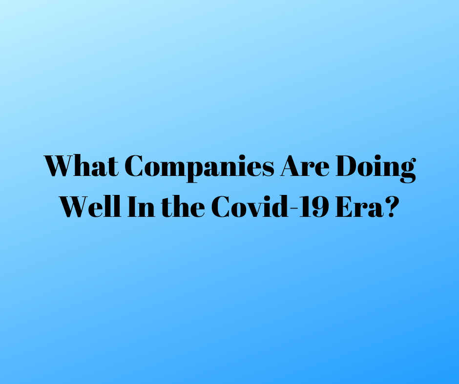 What companies are doing well in the Covid-19 era