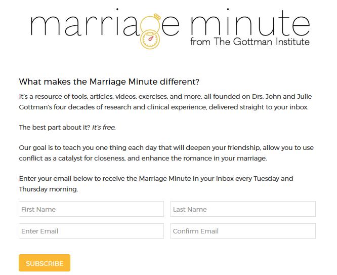 Confira o minuto do casamento de Gottman - renda dupla sem filhos 9
