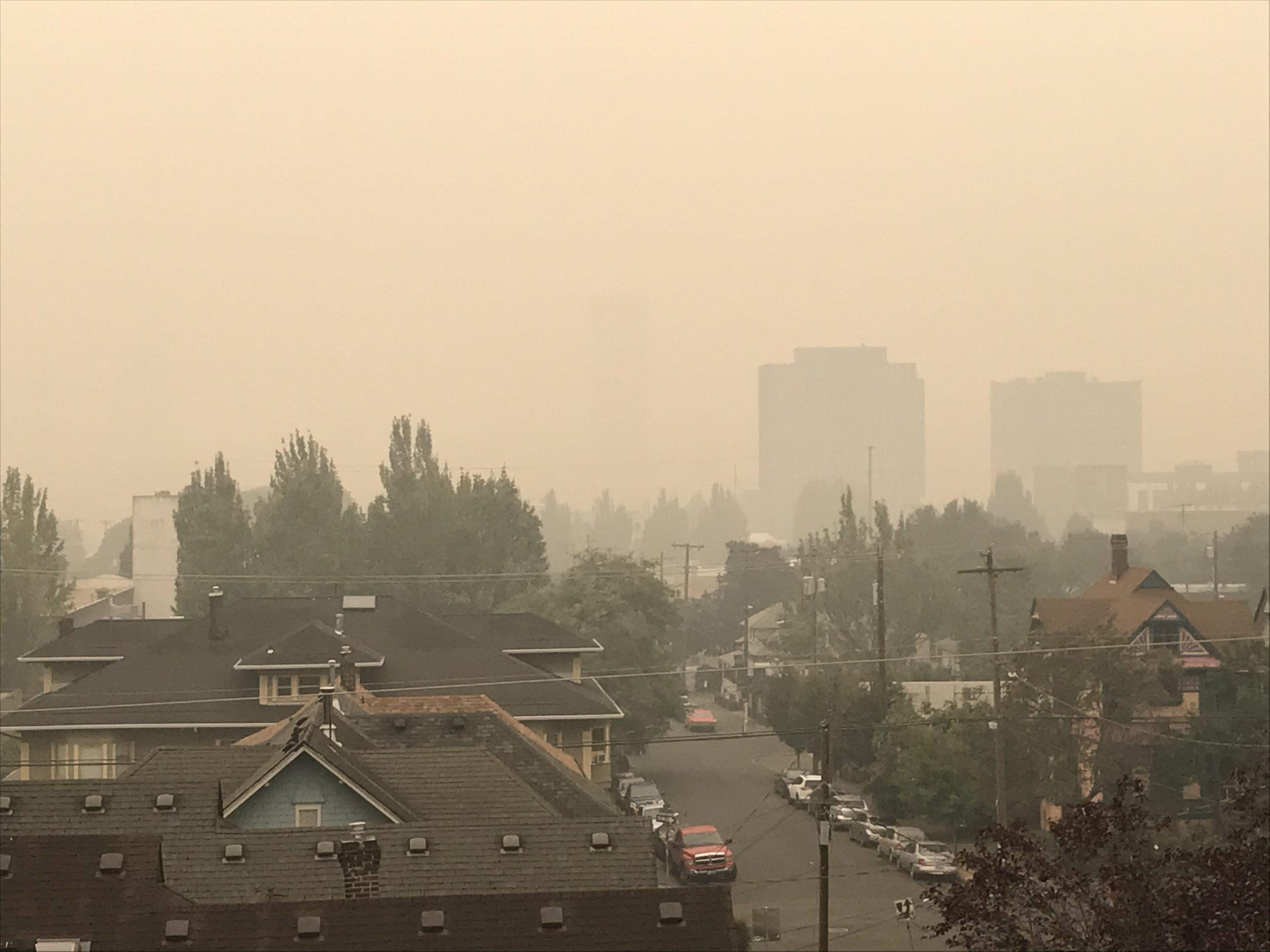 Smoke from fires in Portland, Oregon