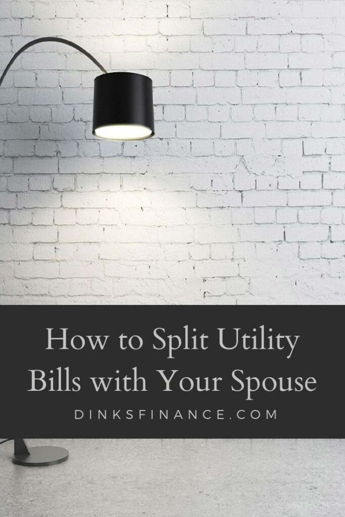 Split Utility Bills with Spouse