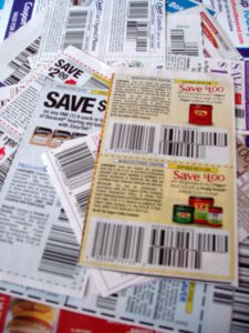 customer service desks may redeem your coupons